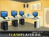 Игра Побег из компьютерной лаборатории онлайн