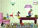Игра Микки и его друзья: Бой подушками онлайн