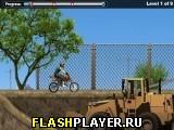 На мотоцикле по стройплощадке