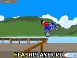 Игра Мотогонщик и трамплины онлайн