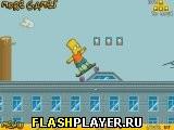 Игра Барт на скейте онлайн