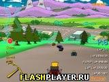 Игра Симпсоны: Гонка на картах онлайн
