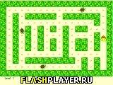 Игра Пакман в зеленых тонах онлайн