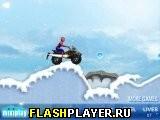Человек-Паук на снежном скутере