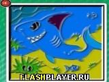 Сказка про акулу – раскраска