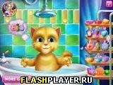 Малыш Рыжик в ванной