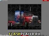 Мощный грузовик пазл