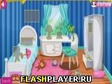 Эльза чистит дом