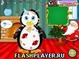 Рождественский  макияж грязного пингвина