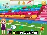 Уборка на детском стадионе