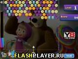 Игра Маша и Медведь – стрельба по конфетам онлайн
