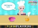 Эльза готовит шоколадный торт без муки