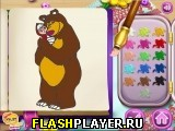 Маша и медведь – раскраска