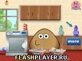 Поу моет посуду