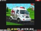Мультяшный фургон скорой помощи