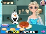 Эльза готовит гамбургер