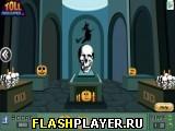Побег в Хэллоуин через дверь с черепом