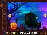 Побег с жуткого кладбища в Хэллоуин
