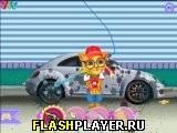 Рыжик чистит машину 2