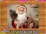 Игра Санта Клаус пазл онлайн