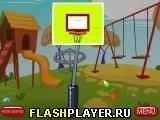 Баскетбол на игровой площадке