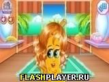 Игра Забавные фрукты в парикмахерской онлайн