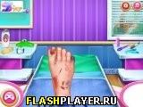 Игра Доктор ноги принцессы онлайн