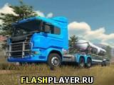 Симулятор грузовика с прицепом на бездорожье