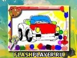 Раскраски с игрушечными машинками