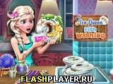 Снежная Королева моет посуду