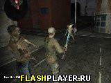 Тяжёлый бой против зомби