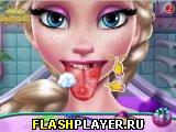 Игра Доктор лечит язык Снежной Королеве онлайн