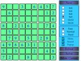 Игра Судоку в зеленых тонах онлайн