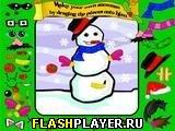 Одень снеговика!
