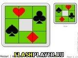 Игра Карточные пятнашки онлайн
