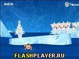 Игра Новогоднее шоу «Поросята на льду» онлайн