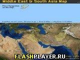 Карта Среднего Востока и Южной Азии