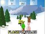 Игра Лыжник и Медведы онлайн
