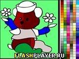 Игра Мишка с цветочками онлайн