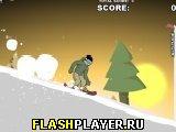 Спуск на сноуборде 3