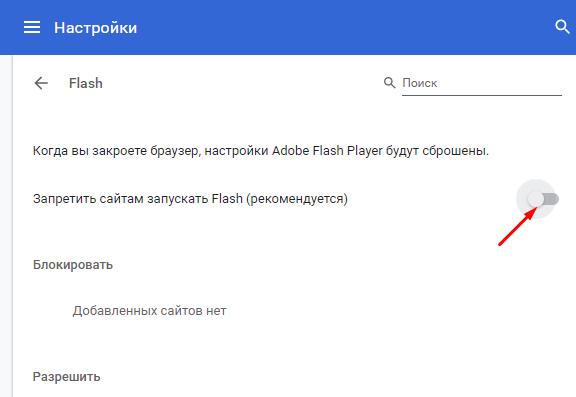 Как включить Flash Player в Chrome