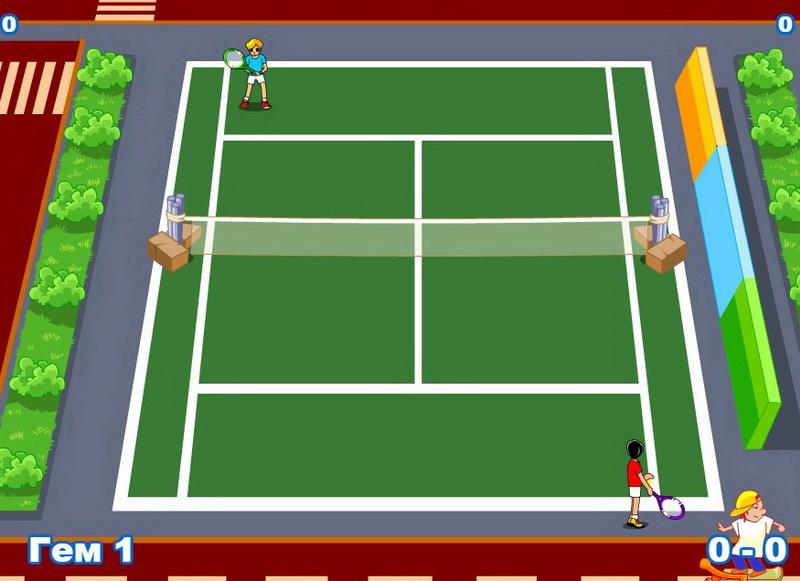 Игры теннис на двоих
