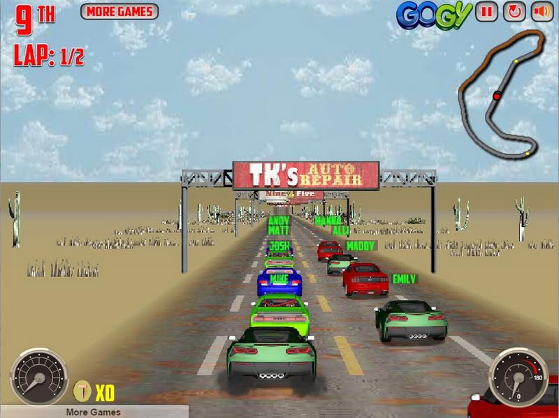 Играть в 3Д гонки
