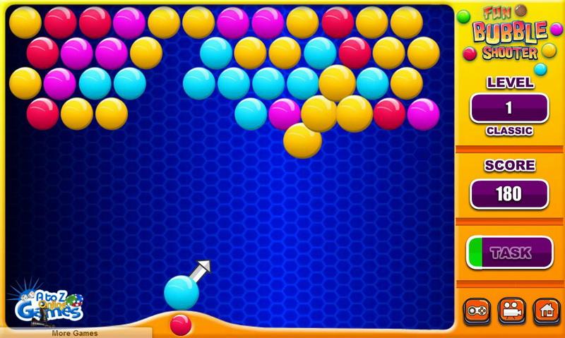 Играть в пузырьки