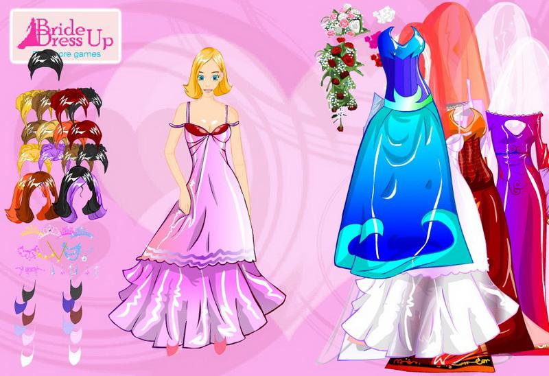 Все одевалки свадебные платья