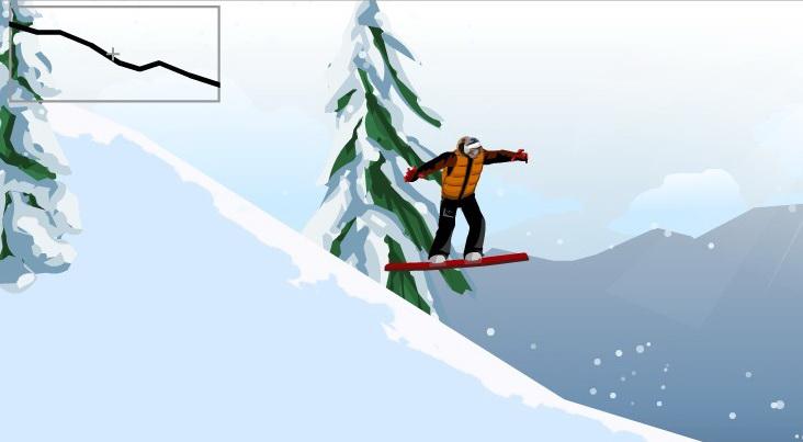 Флеш игры сноуборд